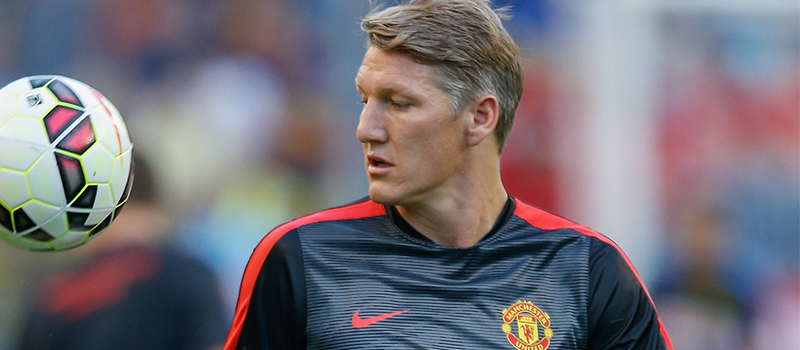 Bastian Schweinsteiger in Old Trafford for the first time as a Manchester United player