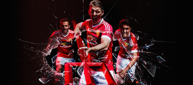 Bastian Schweinsteiger looking good in Adidas' new Manchester United kit