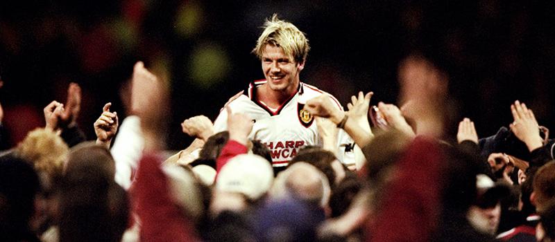 a5da1afa67904 Former Manchester United midfielder David Beckham wears famous No.7 shirt  again