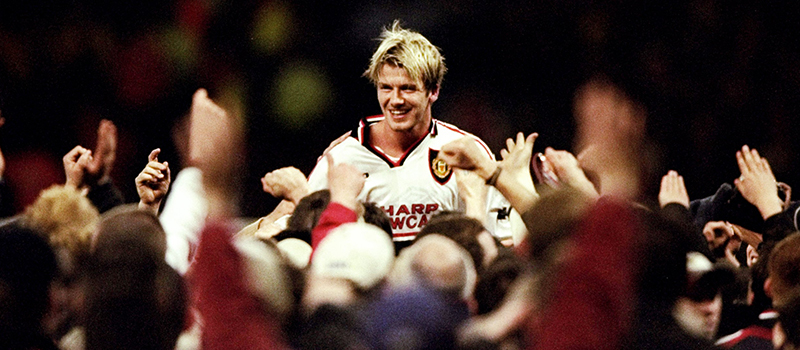 Former Manchester United midfielder David Beckham wears famous No.7 shirt again