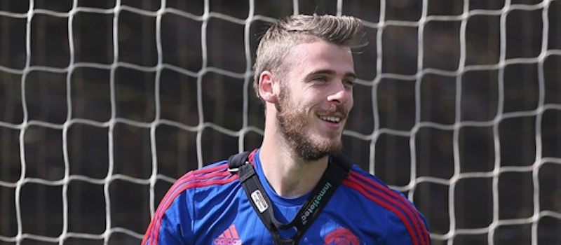 David de Gea back at training with Manchester United at Carrington