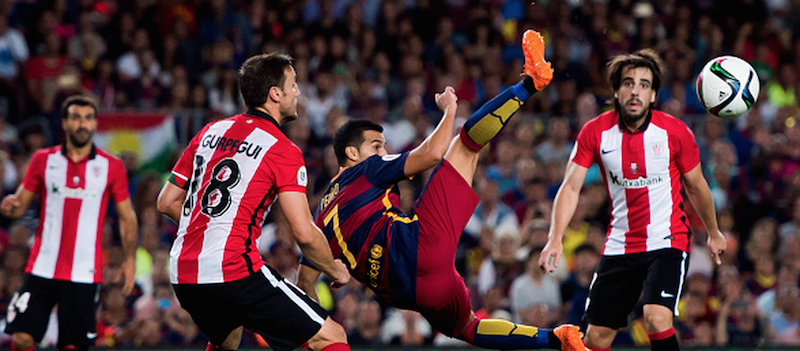 Pedro Rodriguez features for Barcelona against Athletic Club in potential farewell game