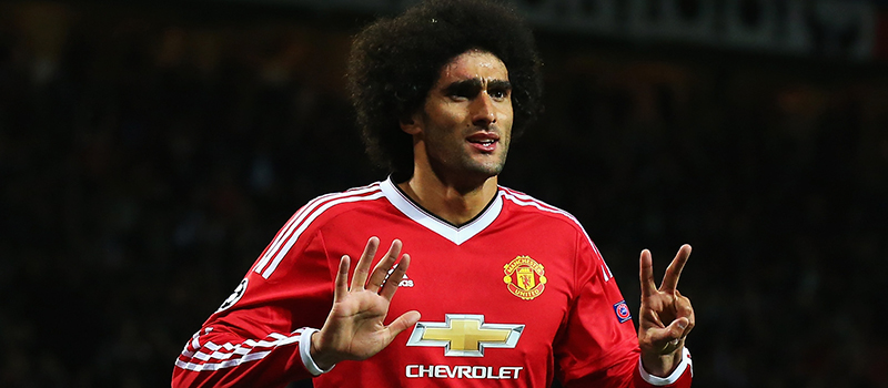 Manchester United midfielder Marouane Fellaini happy with number switch