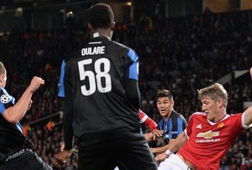He's a red! Bastian Schweinsteiger's brilliant celebration after Marouane Fellaini's goal