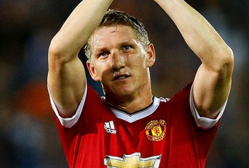Bastian Schweinsteiger all smiles on route to PSV for Champions League clash