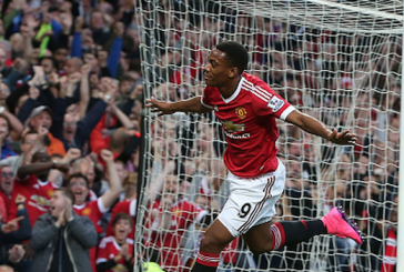 Louis van Gaal pleased with Anthony Martial in training after Liverpool goal