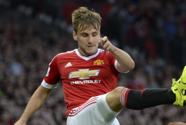 Luke Shaw thanks PSV fans for 'get well soon' banner