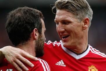 Bastian Schweinsteiger's brother at Old Trafford for Manchester derby