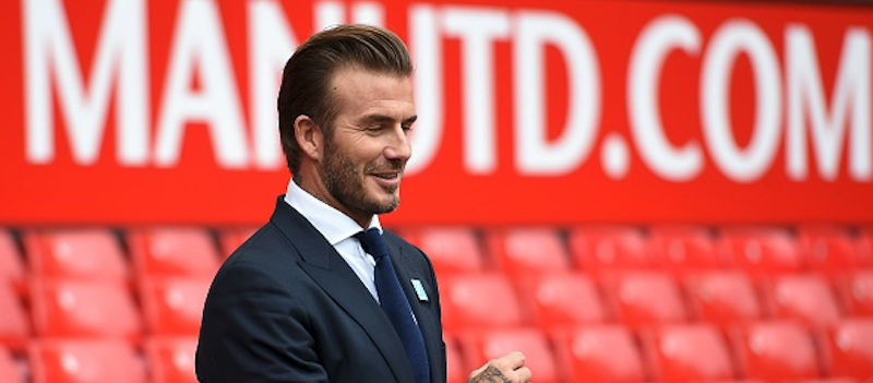 Photo gallery: David Beckham back at Old Trafford to promote charity match