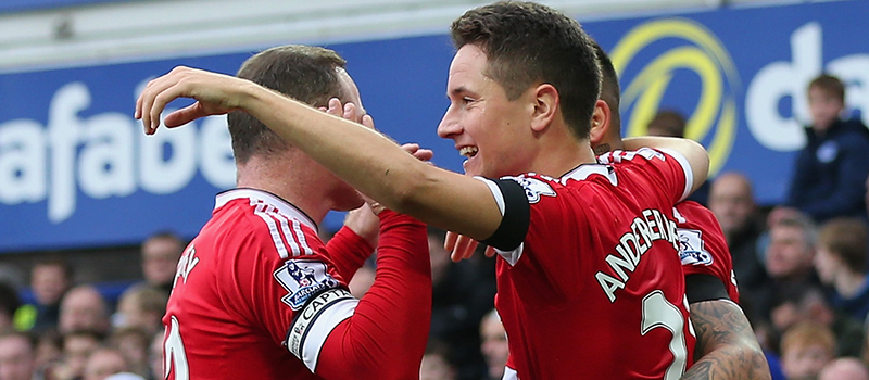 Photo: Ander Herrera and Juan Mata bromance hits new heights after Everton goal