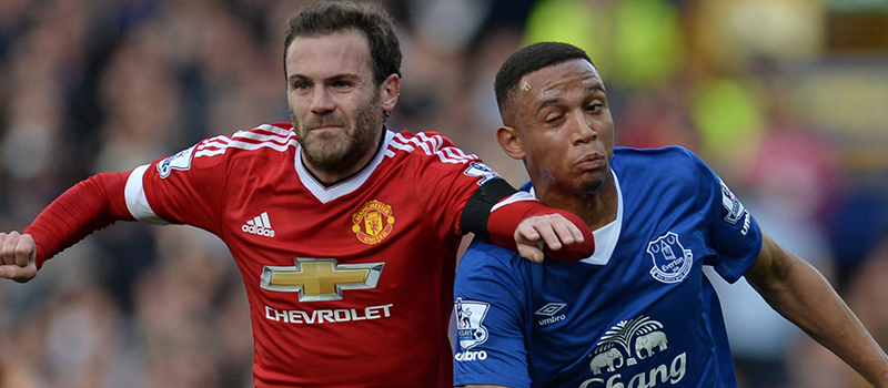 Juan Mata and Anthony Martial all smiles at training after Everton win