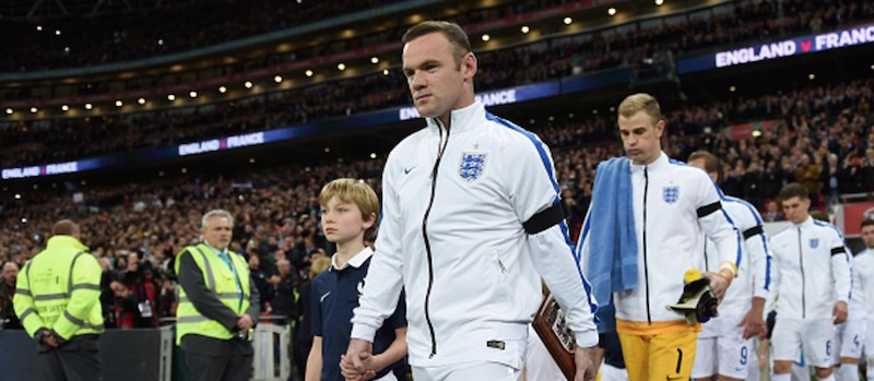 Video: Wayne Rooney's passionate celebrations after England win