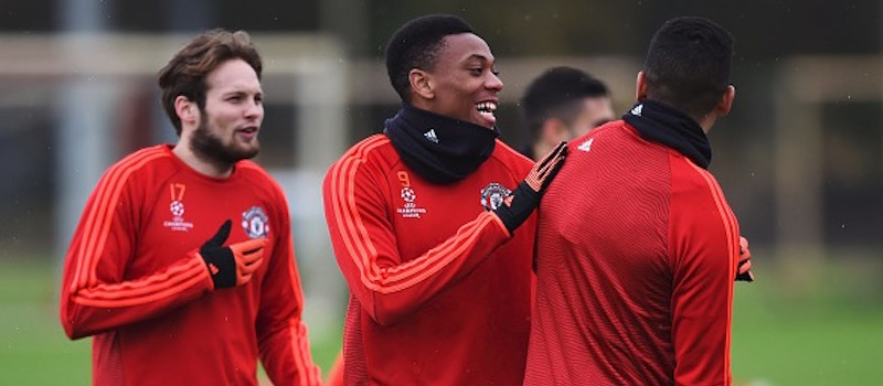 Photos: Anthony Martial Back In Manchester United Training
