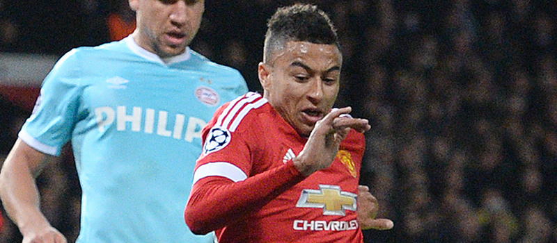 Manchester United's Jesse Lingard suffers mixed bag against PSV Eindhoven