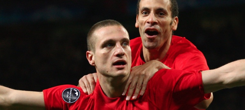 Nemanja Vidic voted best left centre back of all time