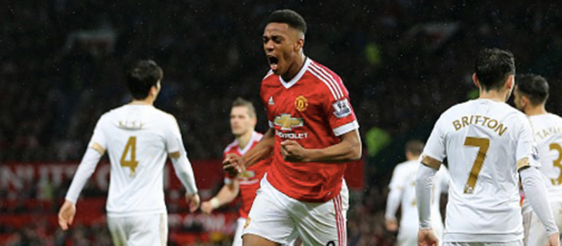 Manchester United 2-1 Swansea City: Anthony Martial inspires vital victory