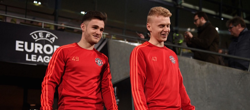 Joe Riley makes his Manchester United debut against Shrewsbury
