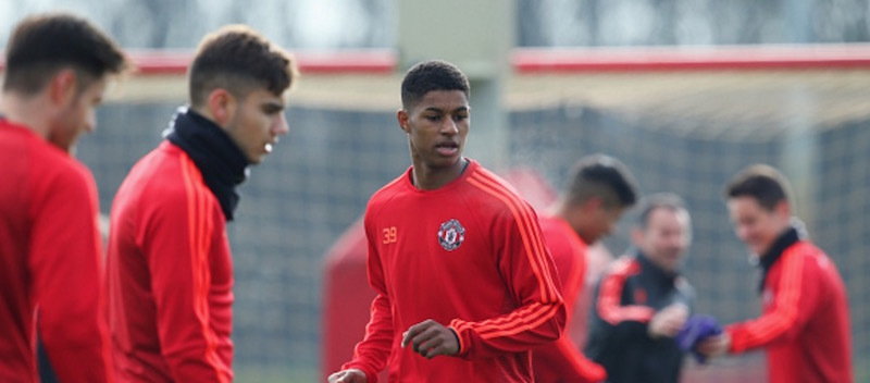 Pictures: Marcus Rashford trains with Manchester United ahead of FC Midtjylland