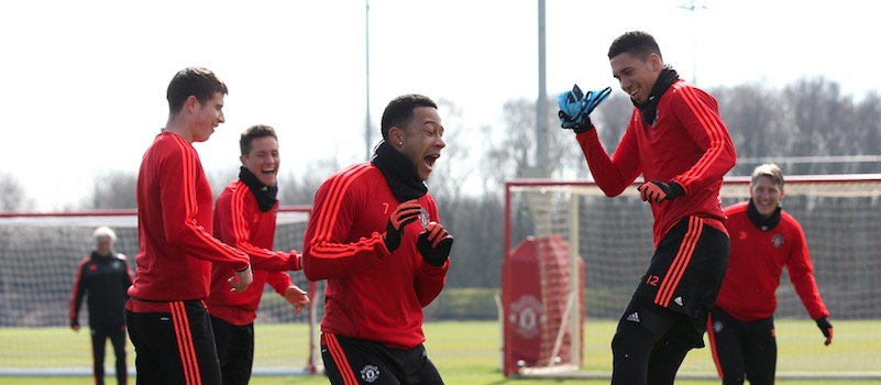 Pictures: Manchester United training ahead of Europa League clash with Liverpool