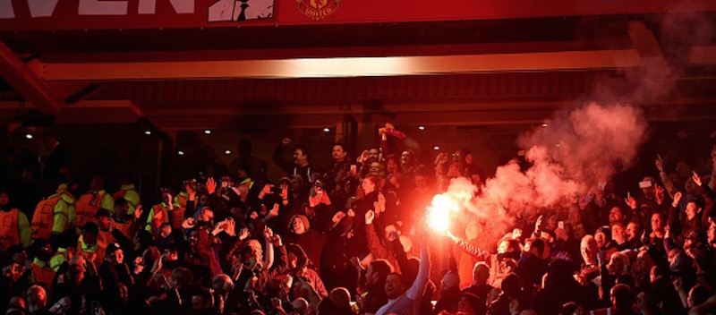 Video: Liverpool fans chanting Munich songs in Old Trafford during 1-1 Europa League game
