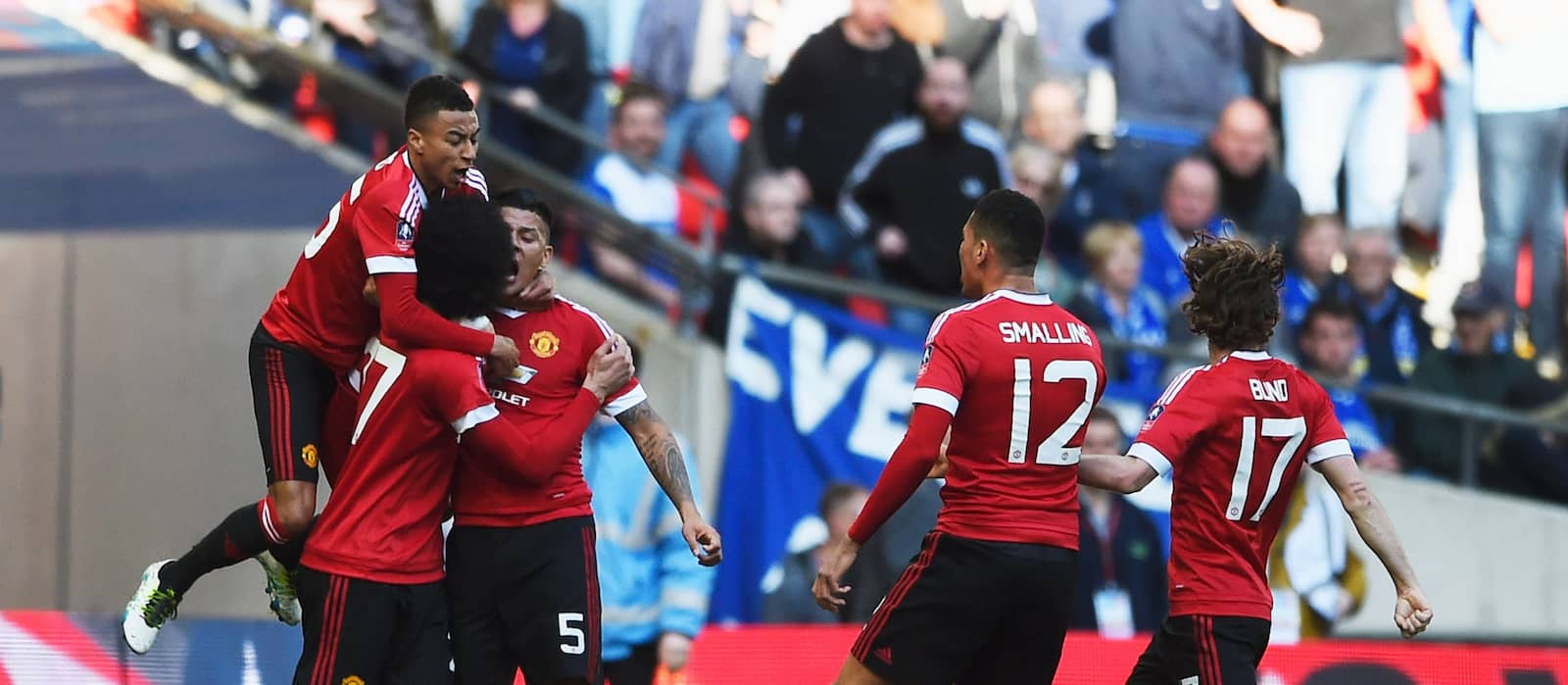Manchester United players revel in FA Cup semi-final win over Everton