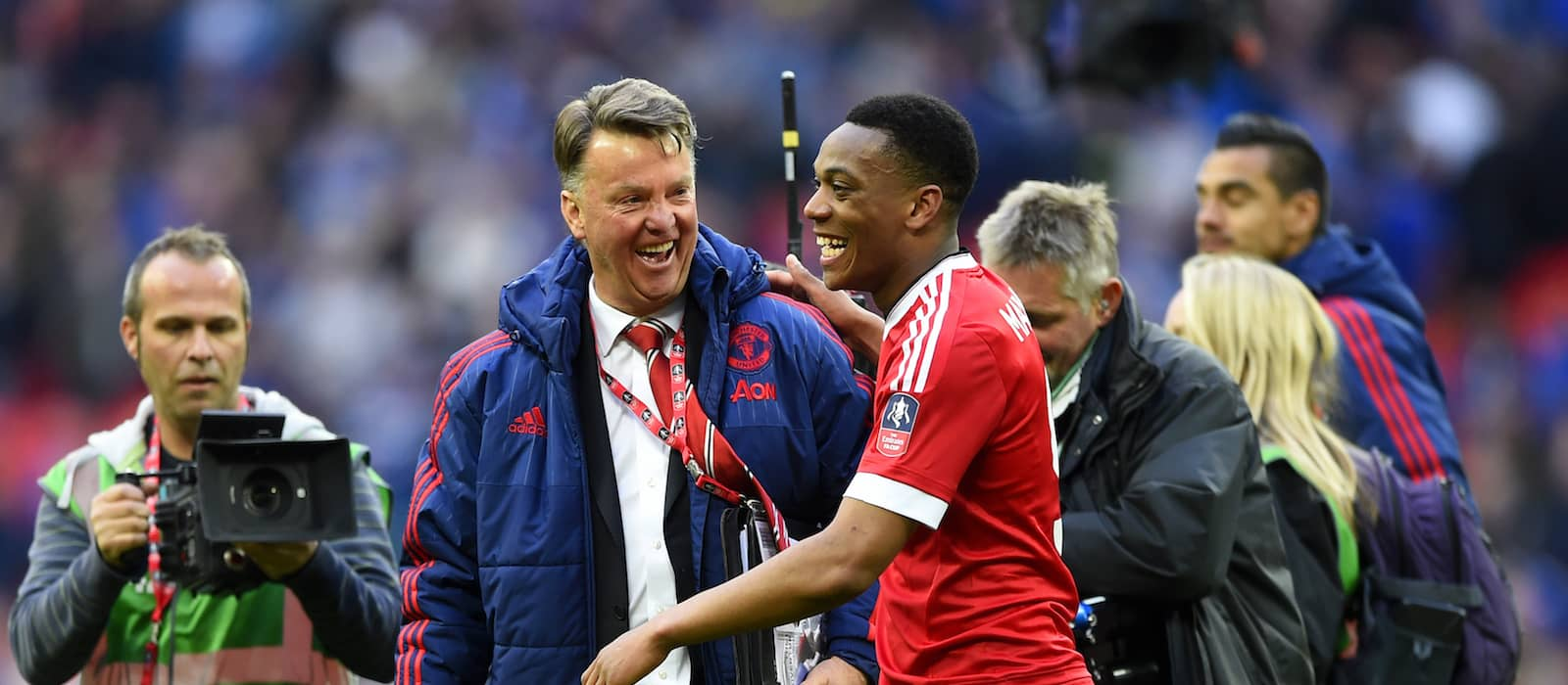 Video: Pitch side view of Man United's 2-1 win over Everton in FA Cup semi-final