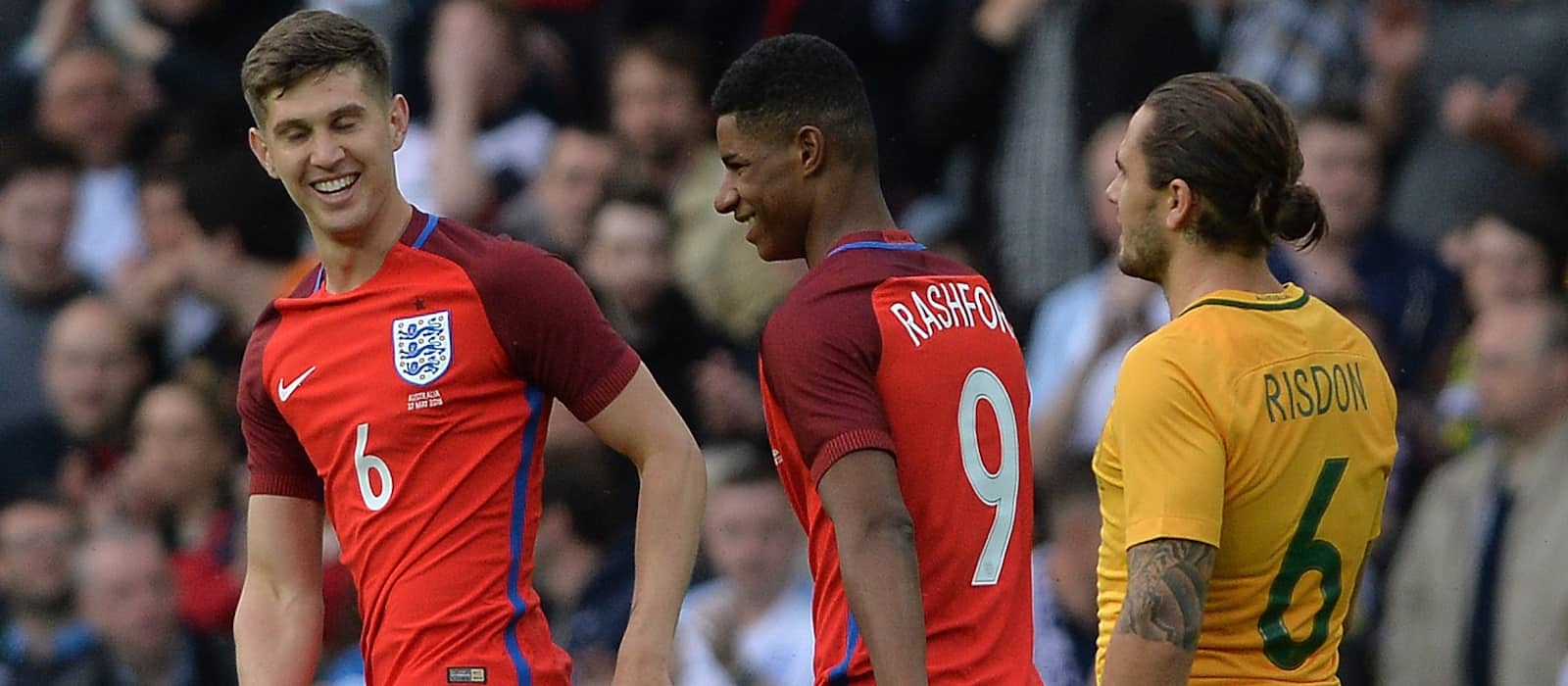 Video: Marcus Rashford's debut goal for England vs Australia