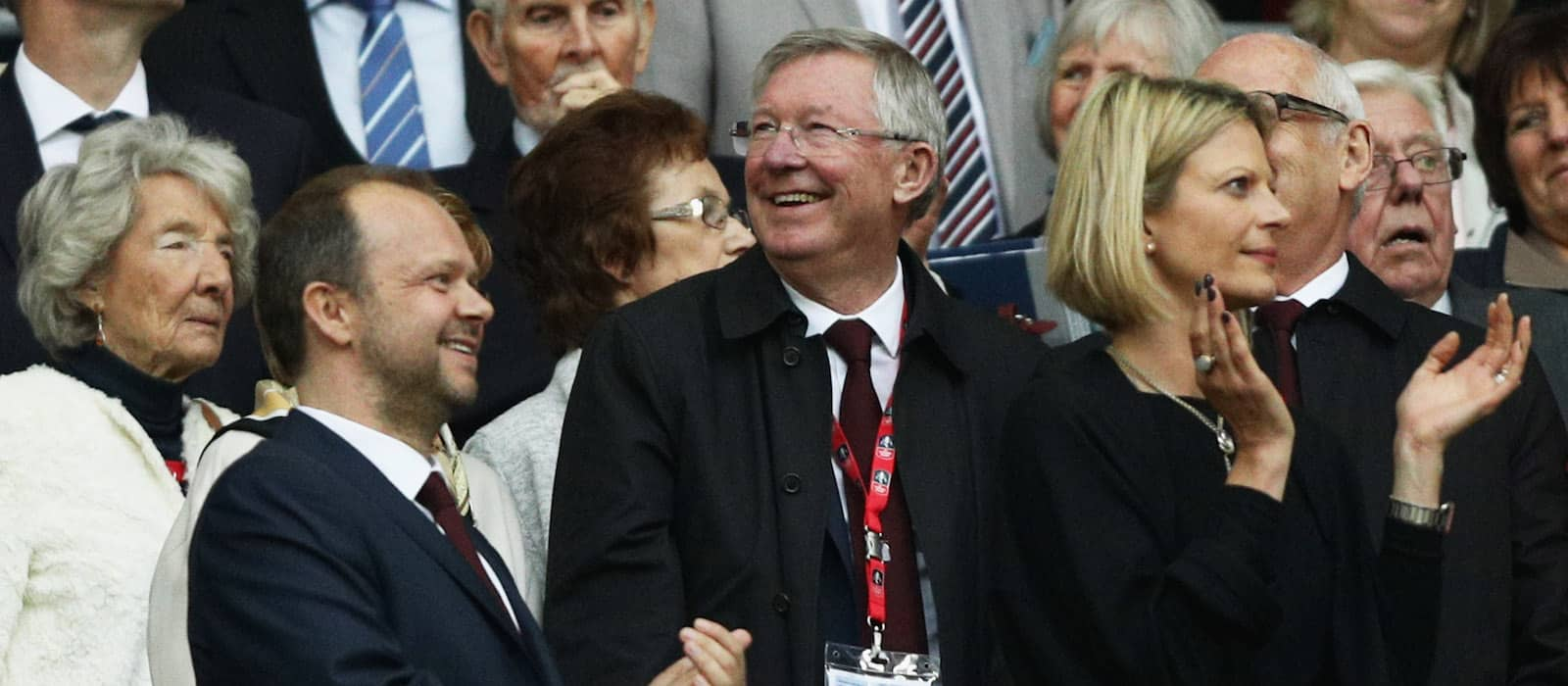 New Sir Alex Ferguson banner put up at Old Trafford in support of legendary boss