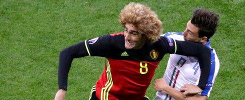Marc Wilmots praises Marouane Fellaini despite Belgium defeat