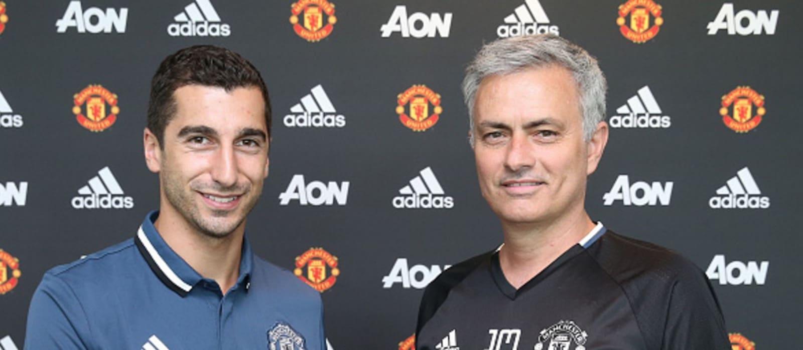 Adnan Januzaj welcomes Henrikh Mkhitaryan to Manchester United