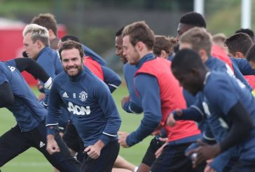 Six youth team players train with Manchester United first team ahead Crystal Palace clash