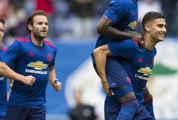 Andreas Pereira watches his teammates beat Crystal Palace following Granada loan spell