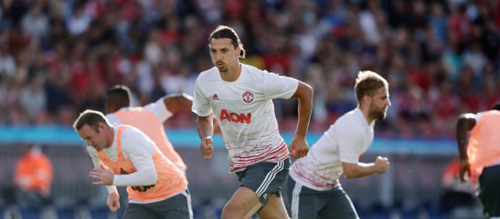 Zlatan Ibrahimovic and Anthony Martial getting on just fine at Manchester United