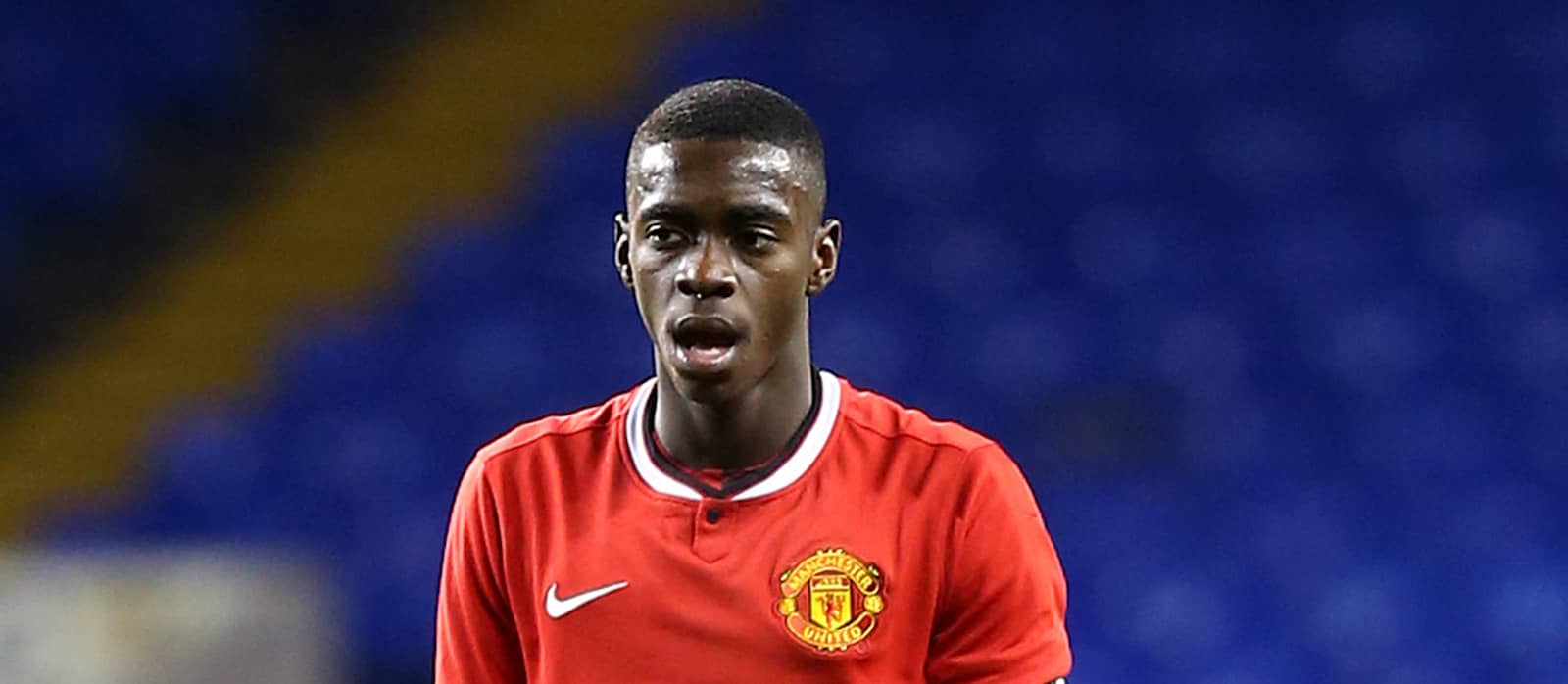 Axel Tuanzebe in training with Manchester United's first-team