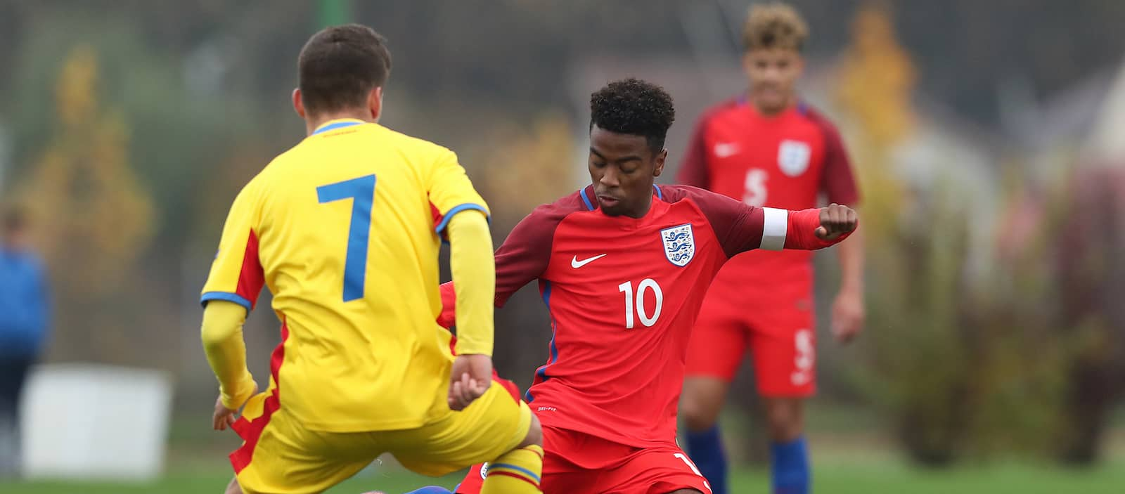 Video: Angel Gomes scores fantastic free-kick for England under-17s