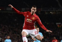 Henrikh Mkhitaryan reacts to his spectacular performance against West Ham