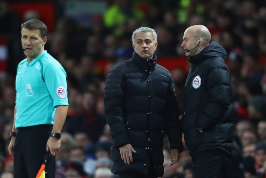 Jose Mourinho calls for parity from English referees in their decisions