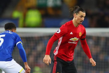 Zlatan Ibrahimovic expresses his frustration with teammates after late Everton equaliser
