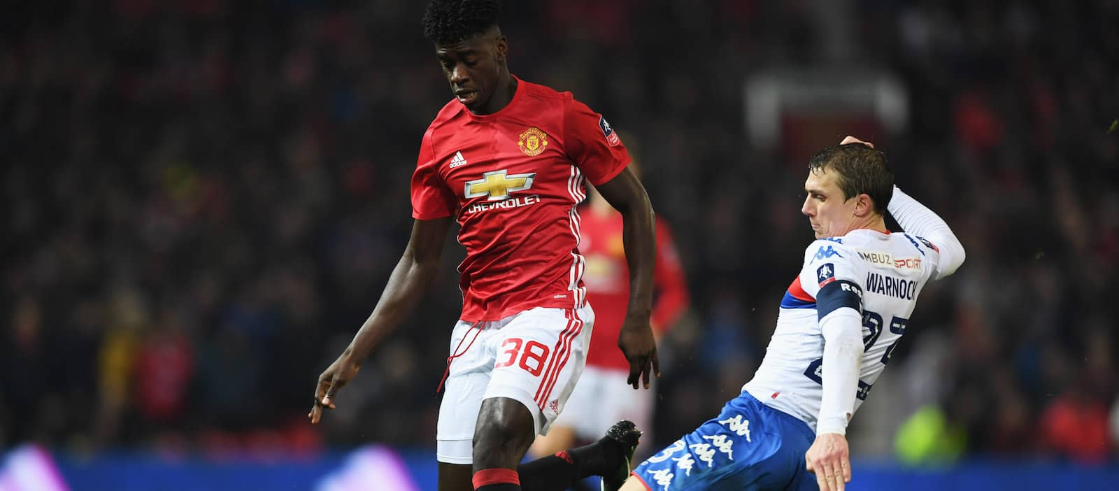 Axel Tuanzebe training with Man United's first-team ahead of Saint Etienne clash