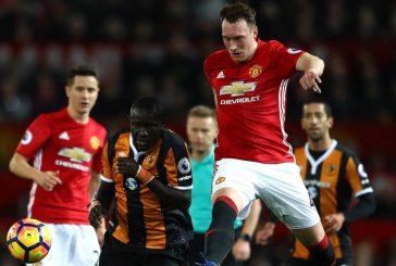 Under Pressure: Manchester United's Phil Jones and Chris Smalling