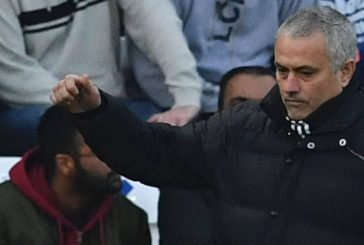 Jose Mourinho reacts to Manchester United's 3-0 victory over Leicester City