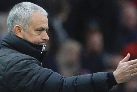 Jose Mourinho reacts after Man United draw Chelsea in the FA Cup