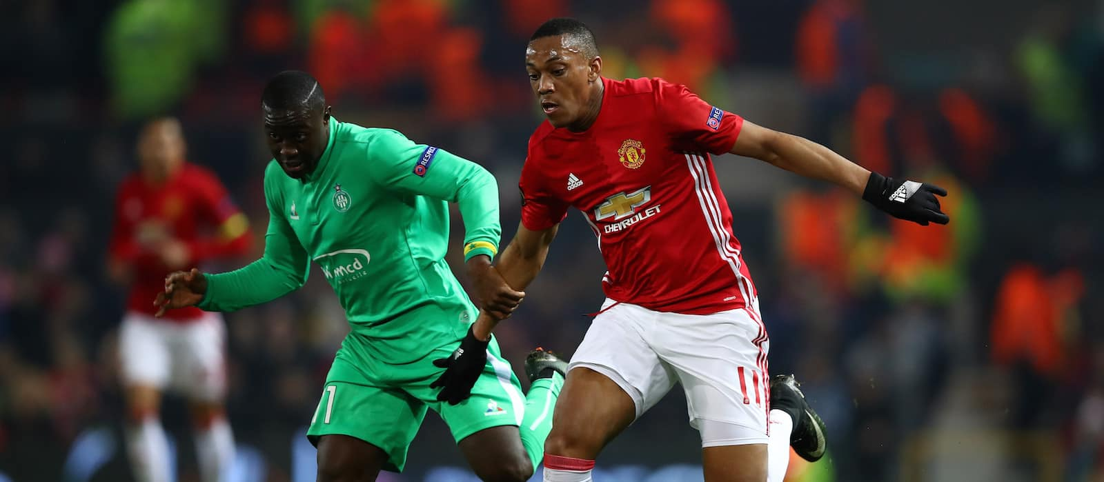 Anthony Martial shows against St. Etienne that he's back in business for Manchester United
