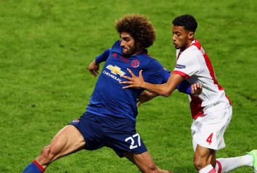 Marouane Fellaini working hard in training ahead of Czech Republic clash