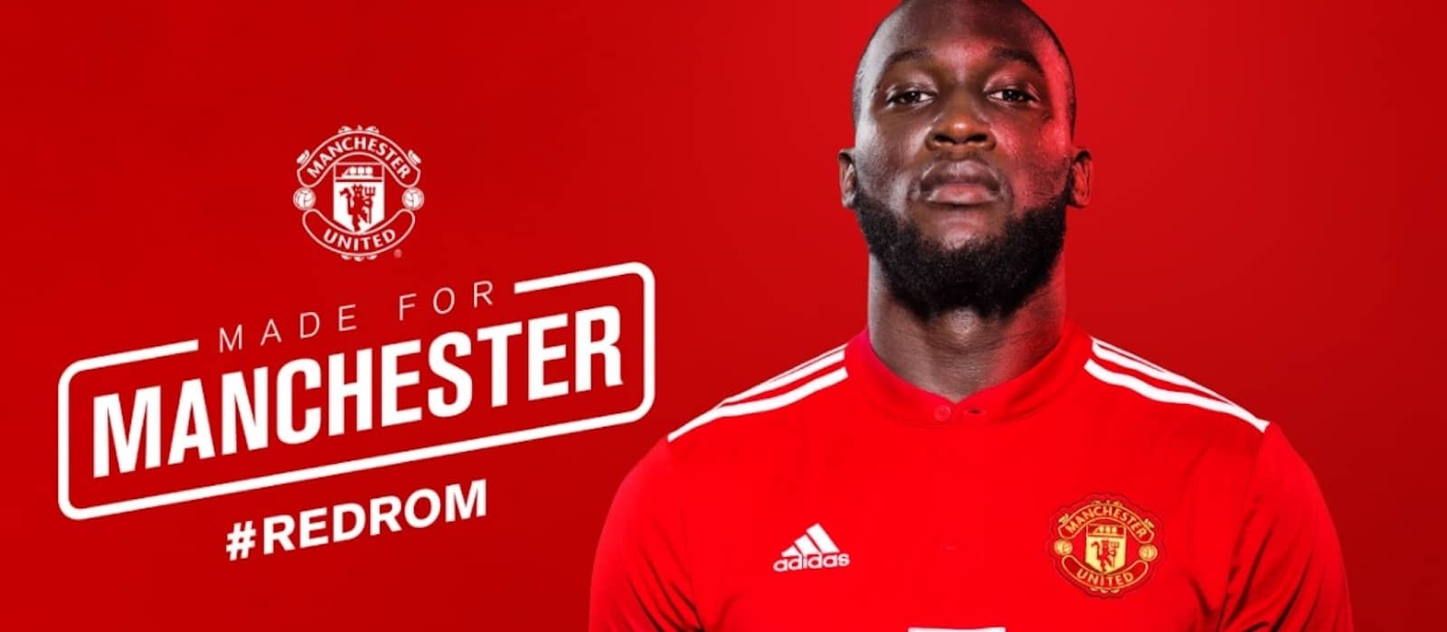 Picture: Romelu Lukaku in his Manchester United shirt for the first time