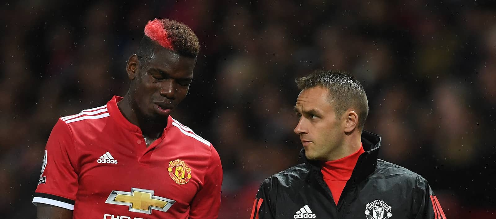 Paul Pogba set to have scan on hamstring injury after leaving Old Trafford on crutches