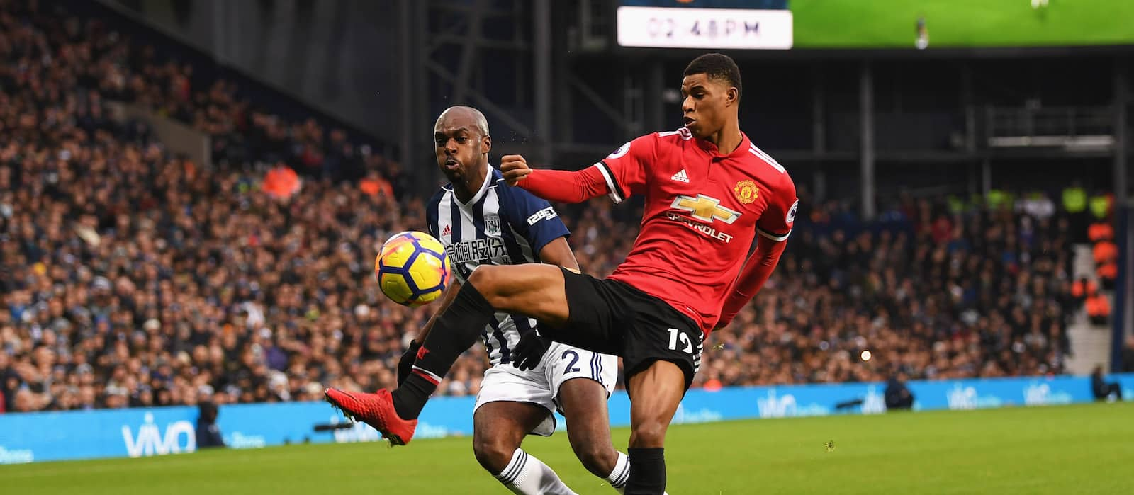 Marcus Rashford delivers ebullient display against West Bromwich Albion