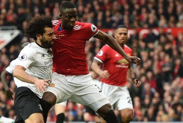 Photo: Eric Bailly in wheelchair following twisted knee injury vs Tottenham Hotspur