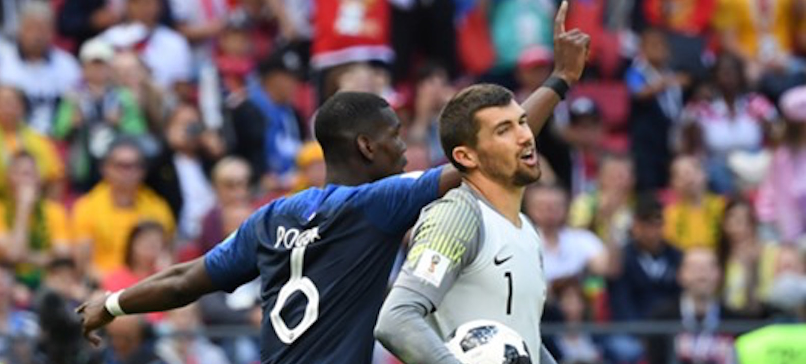 Paul Pogba expresses his delight after reaching the World Cup final