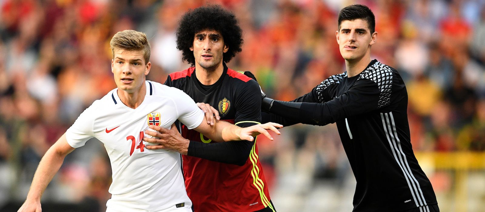 Thibaut Courtois endorses 'useful' Belgium team-mate Marouane Fellaini